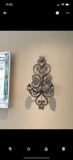 Large beautiful rod iron sconces - Candle Holders for Sale in Suffolk,  VA