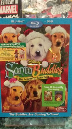 disney Santa buddies the legend of Santa paws BLU-RAY +DVD UNOPENED FACTORY SEALED BRAND NEW for Sale in Yakima,  WA