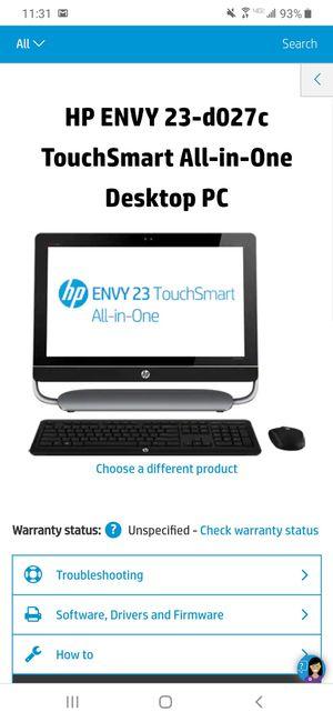 HP ENVY 23 TOUCHSMART ALL-IN-ONE for Sale in Bellevue, WA