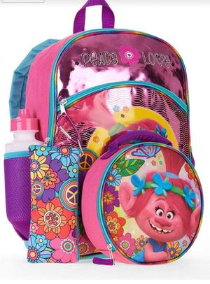 Trolls Backpack - Set of 5 pieces - New - Girls for Sale in Grand Island, FL