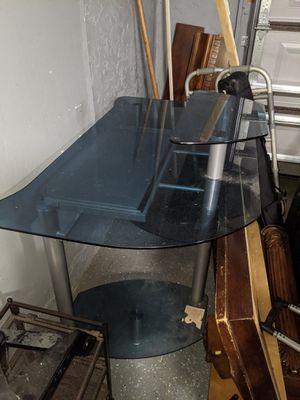 Glass desk for Sale in Cape Coral, FL