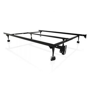 Heavy Duty 6-Leg Adjustable Metal Bed Frame with Rug Rollers - UNIVERSAL for Sale in Hammond, IN