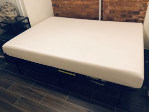 Like New Queen Size Memory Foam Mattress and Bed Frame for Sale in New York, NY