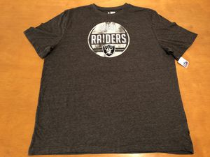 Oakland Raiders XXL Shirt with tag. Gray men's for Sale for sale  Burbank, CA
