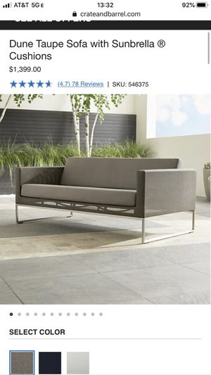Crate and Barrel Dune Outdoor Furniture Set for Sale in Issaquah, WA