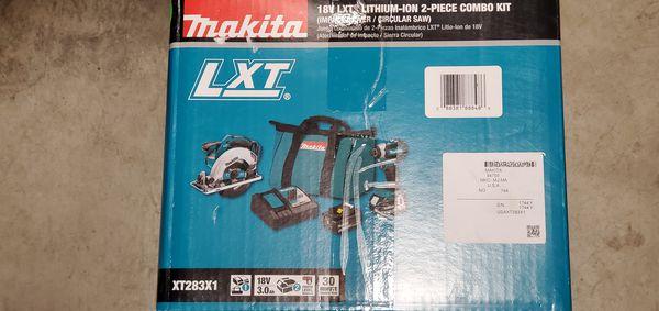 Makita XT283X1 18V LXT Lithium-Ion Cordless 2-Pc. Combo Kit (3.0Ah)
