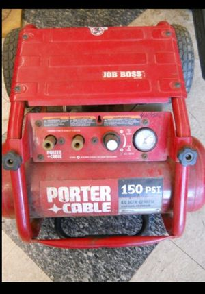 Porter cable compressor job boss 150psi contractor grade for Sale in Columbus, OH