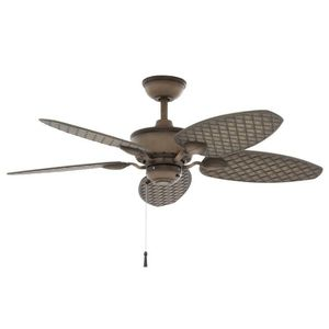 Hampton BayLargo 48 in. Indoor/Outdoor Weathered Zinc Ceiling Fan for Sale in Houston, TX
