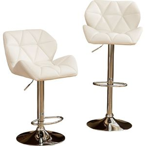 White Hydraulic Adjustable Height Swivel Bar Stool (Set of 2) for Sale in Arcadia, CA