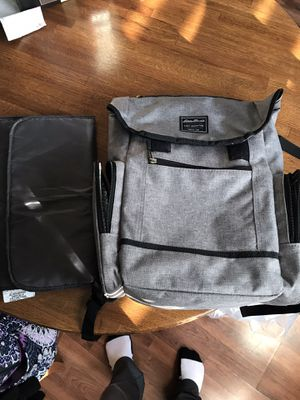 Eddie Bauer grey diaper backpack for Sale in Plainfield, IL