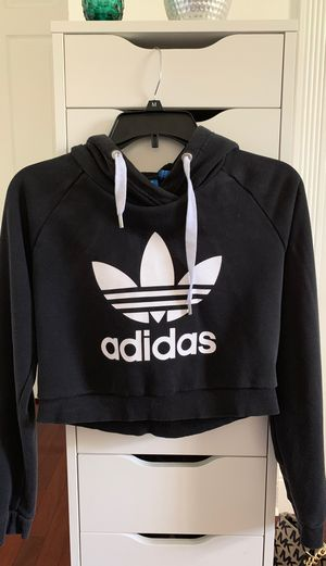 Women's adidas black pullover cropped hoodie for Sale in Spring Hill, FL