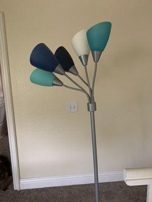 5 Head Blue floor lamp for Sale in Corona, CA