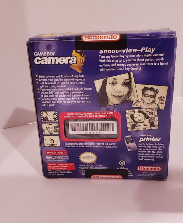 New and Sealed Nintendo Gameboy Camera