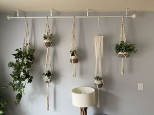 Boho Macrame Hanging Plant Kit w/ Fake Plants Included for Sale in Oceanside, CA
