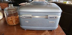 Vintage cosmetic train case American tourister blue for Sale in Killeen, TX