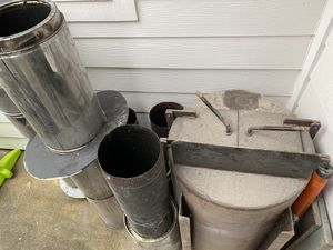 Barrel wood stove with all the piping for Sale in Clackamas, OR