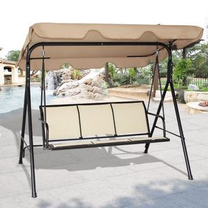 New in box $90 each 528 lbs capacity porch swing bench chair with canopy sun shade sun blocker for Sale in Santa Fe Springs, CA