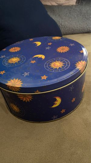 Moon star metal storage container for Sale in Portland, OR