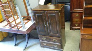 Nice solid wood cherry cabinets two drawers and a shelf delivery available for Sale in Jacksonville, FL