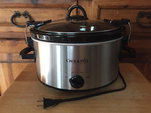 Crock-Pot 4-Quart Cook and Carry Slow Cooker, Stainless Steel for Sale in Tampa, FL