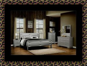 11pc Grey Marley bedroom set with mattress for Sale in Silver Spring, MD