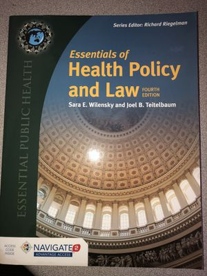 essentials of health policy and law fourth edition for Sale in Greenville, NC