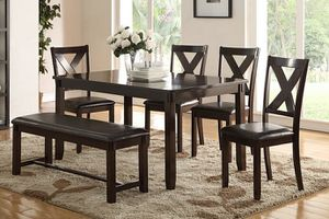 NEW, 6 PC Dining Set, Brown, SKU# F2297 for Sale in Westminster, CA