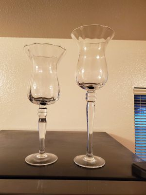Candle holder, one 15 inches tall ,the other is 18 inches for Sale in Rancho Cucamonga, CA