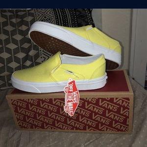 Yellow Slip On Vans 7.5 Women's for Sale in Chino, CA