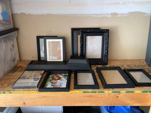 Collection of Black Picture Frames and Shelves FREE for Sale in Lakeville, MN
