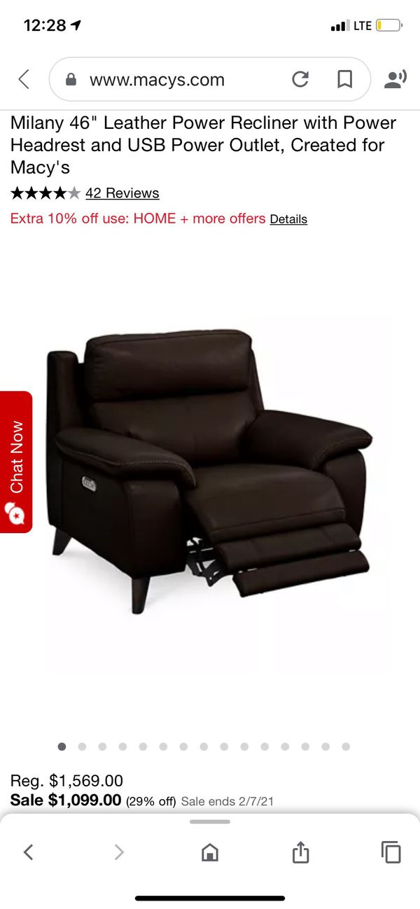 Leather Power Recliner - Macy's