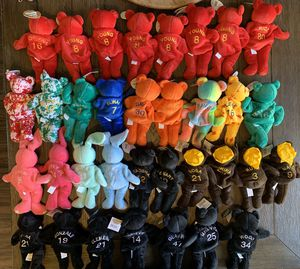 34 Sports Bamm Beanos Beanie Baby Plush Bear for Sale in Upland, CA