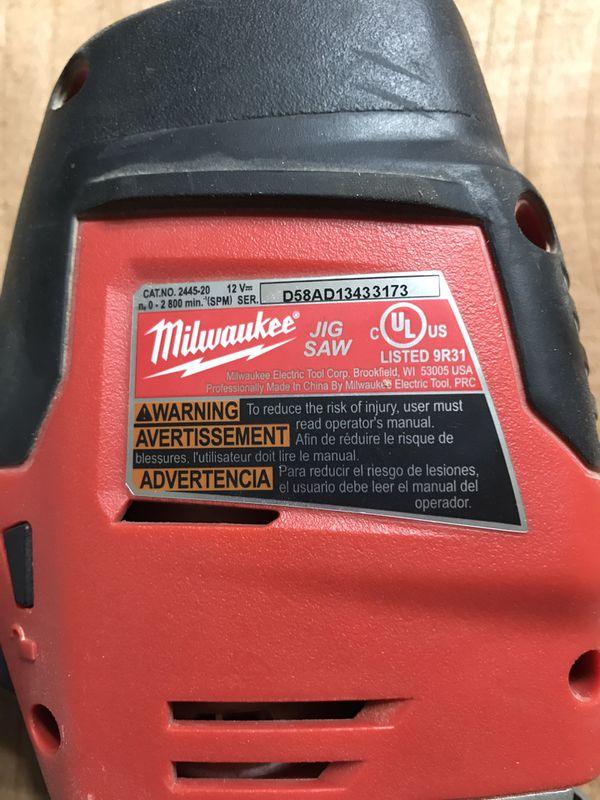 Milwaukee M12 Jig Saw
