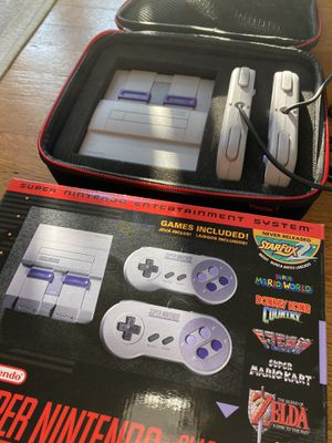 Super Nintendo Classic Edition (+ FREE case!) for Sale in Los Angeles, CA