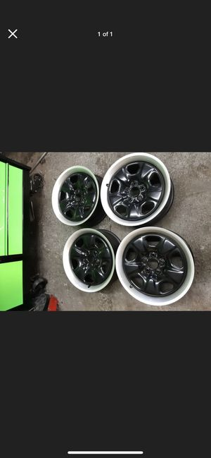Camaro Wheels Steel Black 18x7.5 rims for Sale in Denver, CO