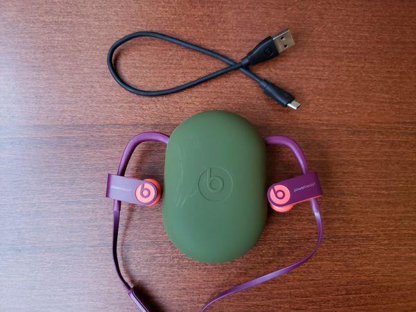 Powerbeats 3 Purple and Orange Wireless Earphones