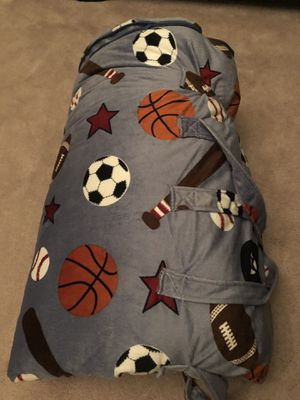 Yummy soft sleeping bag with pillow. Roll up with a carry handle. Never used. for Sale in Calabasas, CA