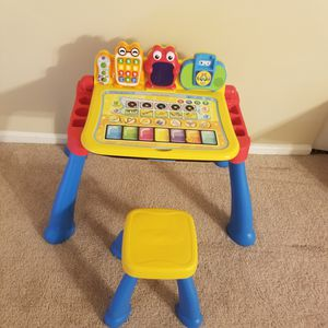 Kids learning activity table with chair for Sale in Arlington Heights, IL