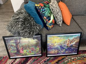 Two Disney canvas prints - bedroom decor - Disney decor - kids room - Disney - little mermaid - Ariel - sleeping beauty - Disney Princess for Sale in Gilbert, AZ