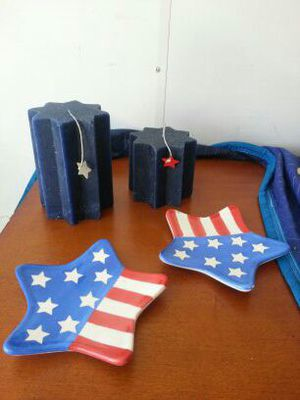 Patriotic candles and holders for Sale in Palm Beach, FL