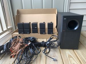 BOSE Acoustimass 10 Home Theater Speaker System + Yamaha Receiver for Sale in Peoria, IL