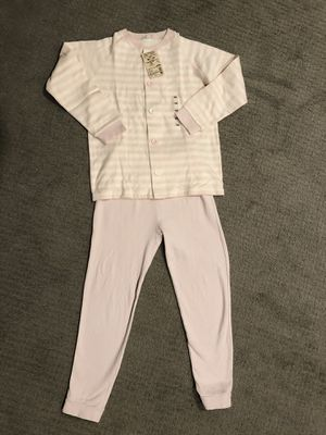 Muji Girls Pajama Set Long Sleeve Top And Pants, Size 6-7 for Sale in Seattle, WA