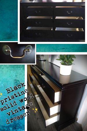 ✨ solid wood vintage yet classy black dresser ✨ for Sale in El Monte, CA