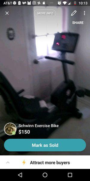 Schwinn exercise bike for Sale in North Bethesda, MD