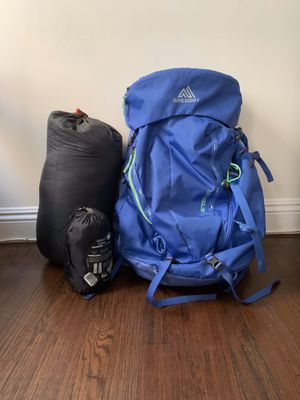 Backpacking Pack, Sleeping Bag and Pad for Sale in Los Angeles, CA