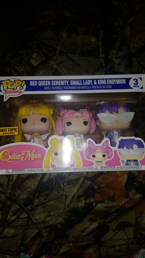 Sailor moon neo queen serenity small lady and king endymion funko pop figures for Sale in Scottsdale, AZ