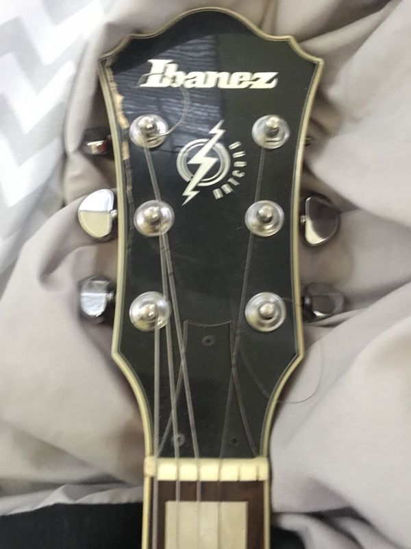 Ibanez guitar. Only has four strings