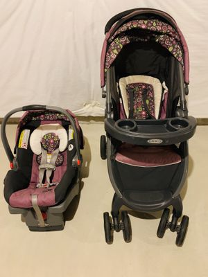 Baby car seat with stroller travel set for Sale in Stroudsburg, PA