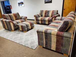 Couch Loveseat and Chair Set with Ottoman for Sale in Denver, CO