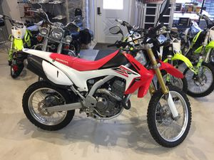 2016 Honda CRF250LG CRF 250 LG Electric start 1489 miles, red+white, on/off road motorcycle / dirt bike will trade for Sale in Westford, MA